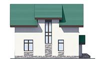Проект кирпичного дома 73-41 фасад