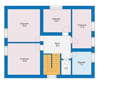 Проект кирпичного дома 73-41 план