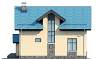 Проект кирпичного дома 73-42 фасад