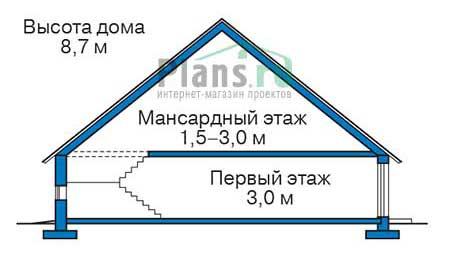 Проект кирпичного дома 73-42 план