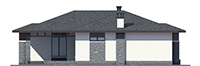 Проект кирпичного дома 73-44 фасад