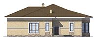 Проект кирпичного дома 73-45 фасад