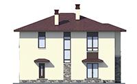 Проект кирпичного дома 73-46 фасад