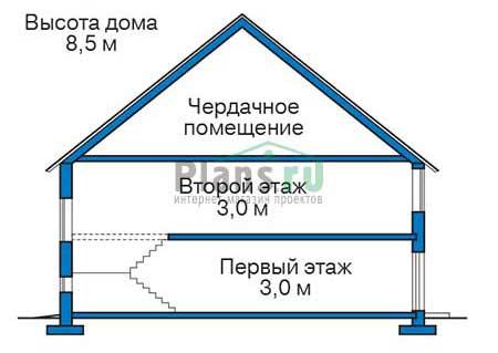 Проект кирпичного дома 73-46 план