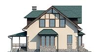 Проект кирпичного дома 73-47 фасад