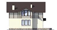 Проект кирпичного дома 73-48 фасад