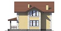 Проект кирпичного дома 73-49 фасад