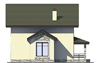 Проект кирпичного дома 73-50 фасад