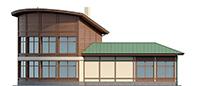 Проект кирпичного дома 73-53 фасад