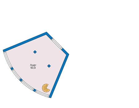 Проект кирпичного дома 73-53 план