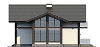 Проект кирпичного дома 73-54 фасад