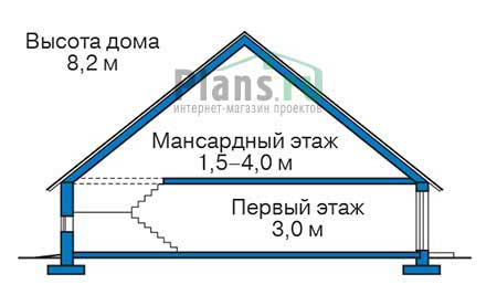Проект кирпичного дома 73-54 план