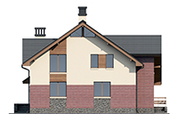 Проект кирпичного дома 73-55 фасад