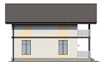 Проект кирпичного дома 73-56 фасад