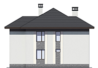 Проект кирпичного дома 73-57 фасад