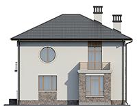 Проект кирпичного дома 73-58 фасад