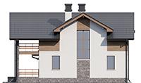 Проект кирпичного дома 73-59 фасад