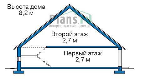 Проект кирпичного дома 73-59 план