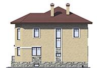 Проект кирпичного дома 73-60 фасад