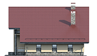 Проект кирпичного дома 73-61 фасад