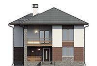Проект кирпичного дома 73-65 фасад