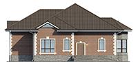 Проект кирпичного дома 73-66 фасад