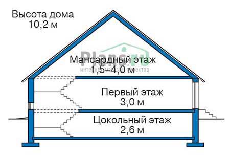 Проект кирпичного дома 73-66 план