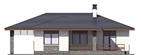 Проект кирпичного дома 73-67 фасад