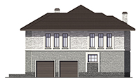 Проект кирпичного дома 73-68 фасад