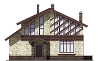 Проект кирпичного дома 73-69 фасад