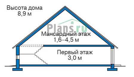 Проект кирпичного дома 73-69 план
