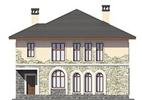 Проект кирпичного дома 73-70 фасад