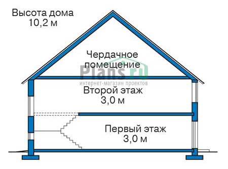 Проект кирпичного дома 73-70 план