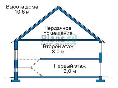 Проект кирпичного дома 73-72 план