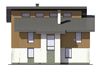 Проект кирпичного дома 73-73 фасад