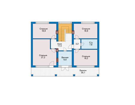 Проект кирпичного дома 73-78 план