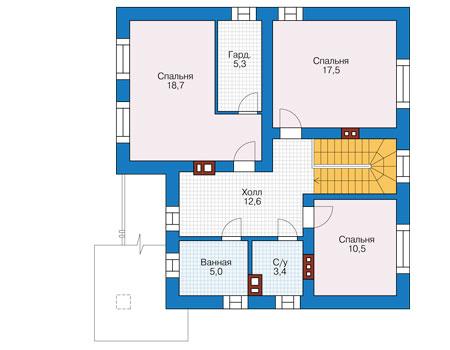 Проект кирпичного дома 73-79 план