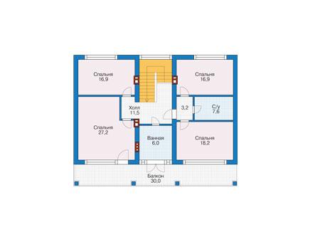Проект кирпичного дома 73-81 план