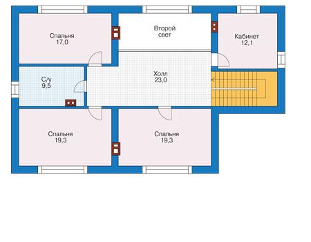 Проект кирпичного дома 73-84 план