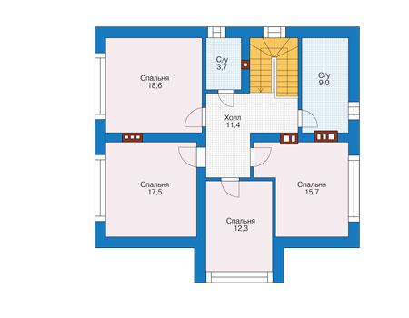 Проект кирпичного дома 73-85 план