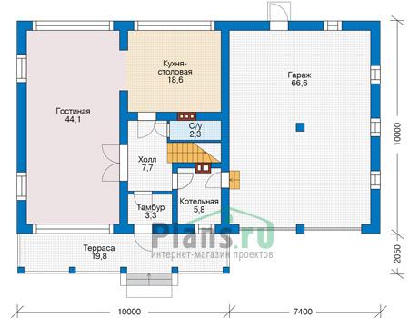 Проект кирпичного дома 73-92 план