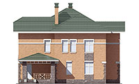 Проект кирпичного дома 73-94 фасад