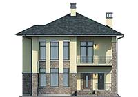 Проект кирпичного дома 73-97 фасад