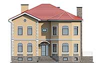 Проект кирпичного дома 73-98 фасад