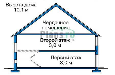 Проект кирпичного дома 74-03 план