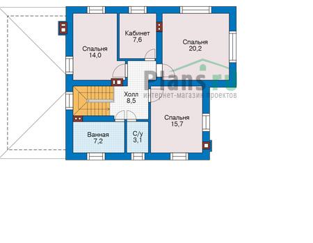 Проект кирпичного дома 74-04 план