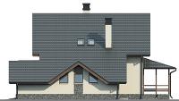 Проект кирпичного дома 74-05 фасад