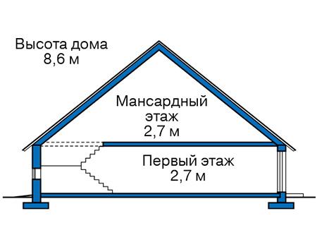 Проект кирпичного дома 74-05 план