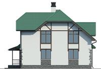 Проект кирпичного дома 74-06 фасад