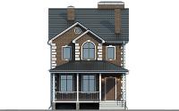 Проект кирпичного дома 74-07 фасад